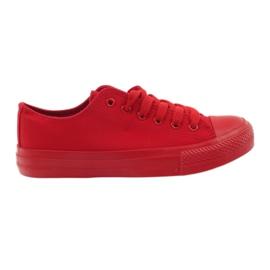 DK Zapatillas atadas rojas rojo