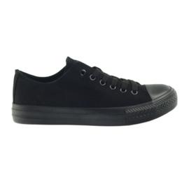 DK Zapatillas atadas negras negro