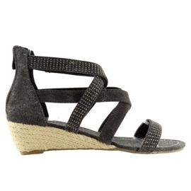 Alpargatas zapatos negros ME11783 Negro