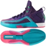 Zapatillas de baloncesto adidas John Wall 2 Boost Prime Knit M D70028 púrpura morado, rosa