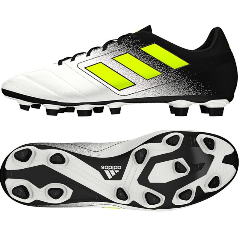 Zapatillas de fútbol Adidas Ace 17.4 FxG M blanco