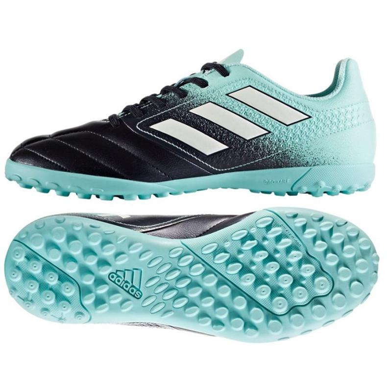 Botas de fútbol adidas Ace 17.4 Tf Jr S77121 negro azul azul