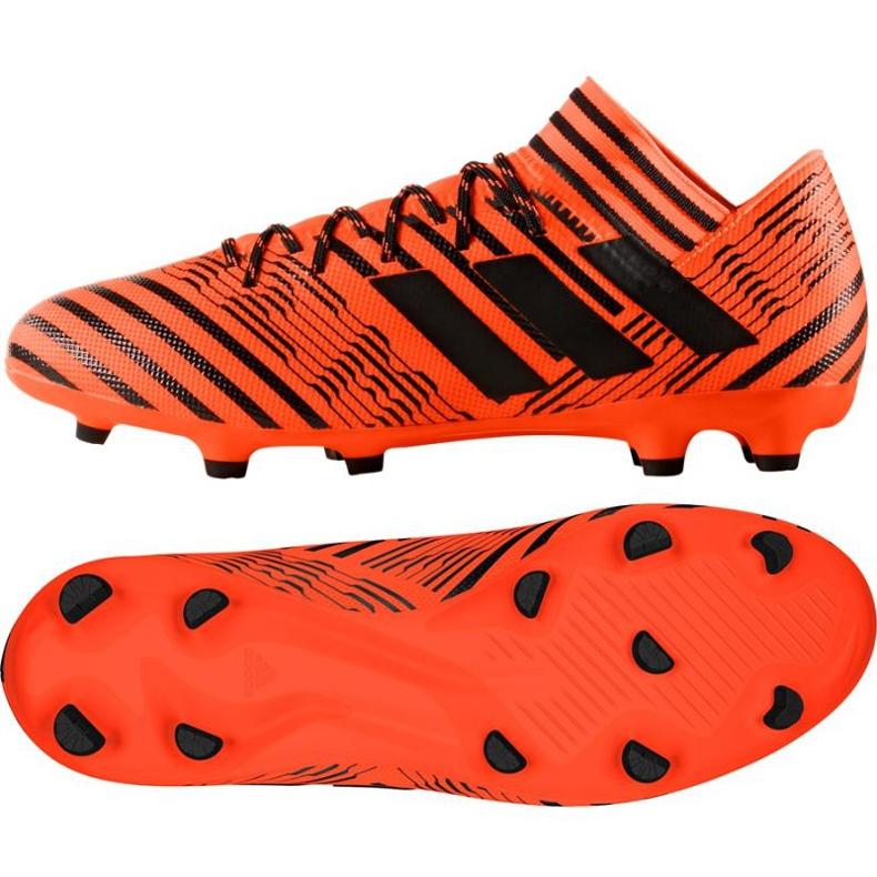 Botas de fútbol adidas Nemeziz 17.3 Fg M S80604 naranja naranja