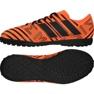 Botas de fútbol adidas Nemeziz 17.4 Tf Jr S82471 naranja naranja