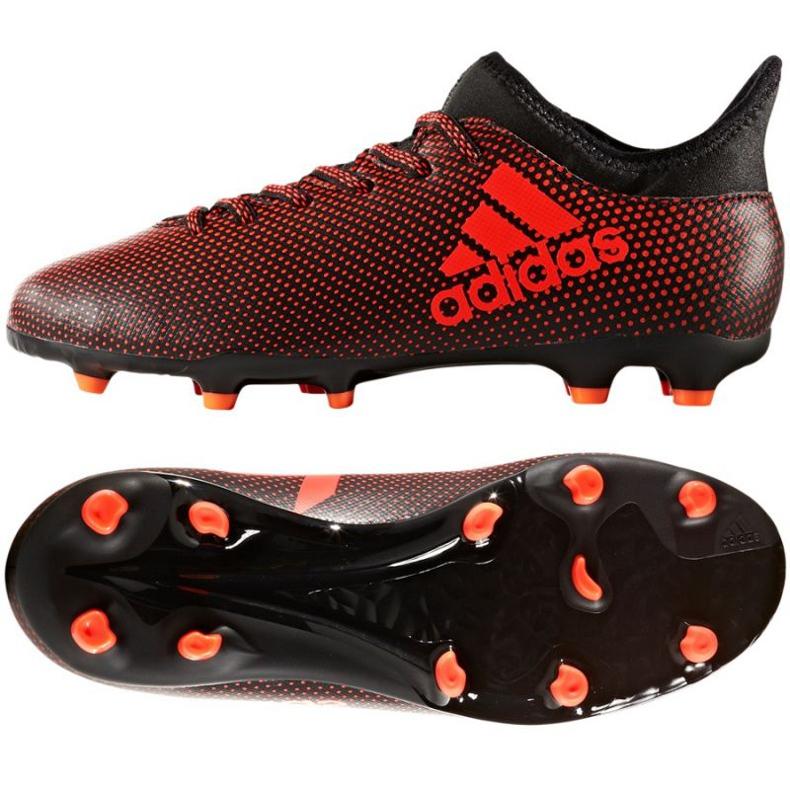 Zapatillas de fútbol adidas X 17.3 Fg Jr S82368 negro rojo rojo