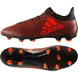 Zapatillas de fútbol adidas X 17.3 Fg M S82365 naranja negro naranja