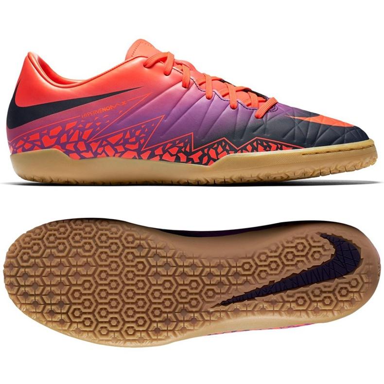 Zapatos de interior Nike Hypervenom Phelon Ii Ic M 749898-845 naranja naranja morado
