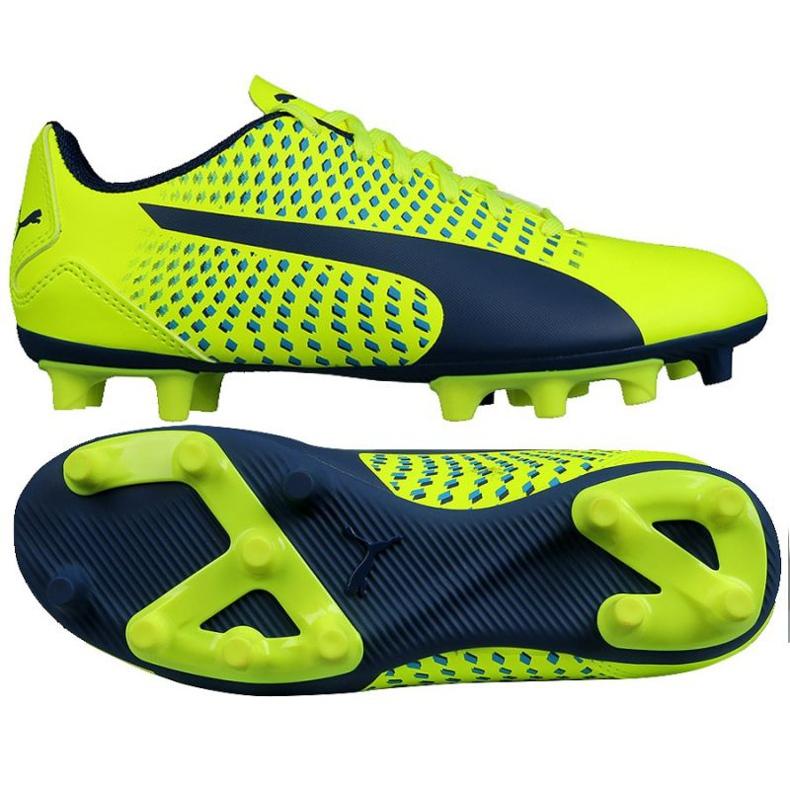 Calzado de fútbol Puma Adreno Iii Fg Safety Junior 104049 10 verde oro