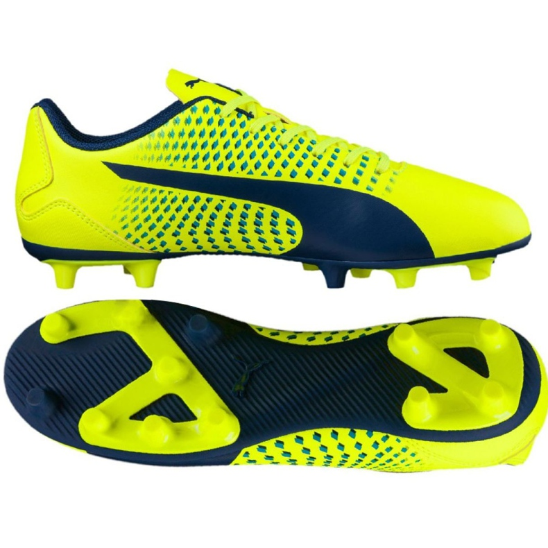 Botas de fútbol Puma Adreno Iii Fg Safety M 104046 09 amarillo amarillo