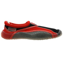 Zapatillas de playa de neopreno Aqua-Speed Jr. rojo gris