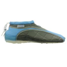 Zapatillas de playa de neopreno Aqua-Speed Jr. azul gris