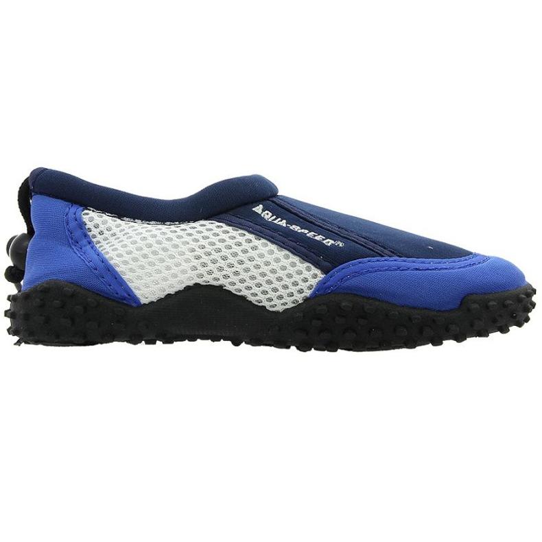 Zapatillas de playa de neopreno Aqua-Speed Jr. azul marino. [ 'multicolor']