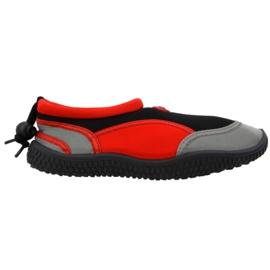 Zapatillas de playa de neopreno rojo Aqua-Speed Jr.