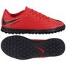 Zapatillas de fútbol Nike HypervenomX Phade III TF Jr 852585-616 rojo