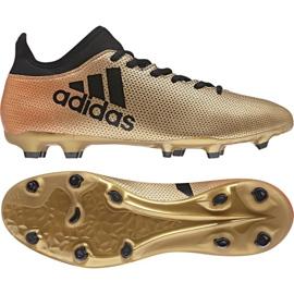 Zapatillas de fútbol adidas X 17.3 Fg M CP9190 dorado negro multicolor