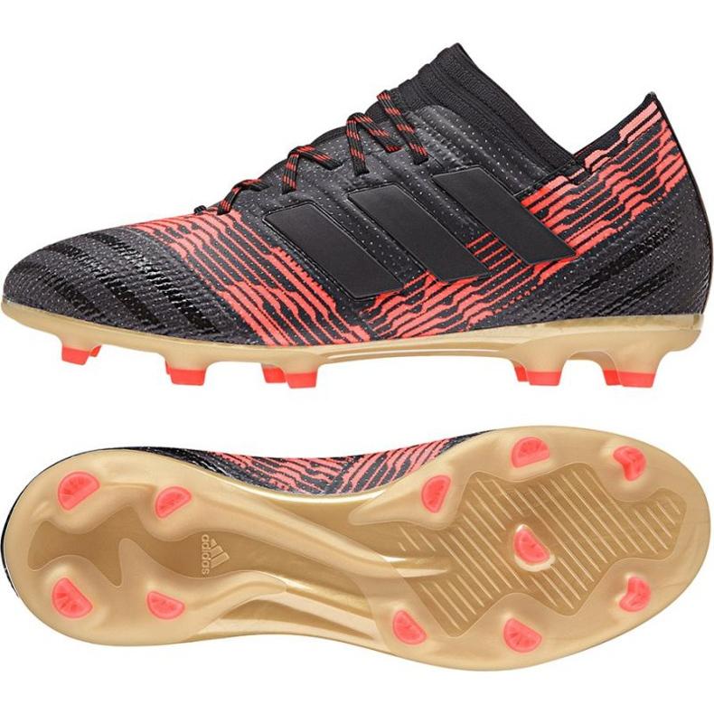 Zapatillas de fútbol adidas Nemeziz 17.1 Fg Jr CP9152 negro