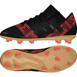 Botas de fútbol adidas Nemeziz 17.3 Fg Jr CP9165 negro negro