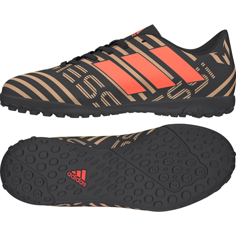 Botas de fútbol Adidas Nemeziz Messi Tango 17.4 Tf Jr CP9217 negro