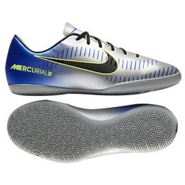Zapatos de interior Nike MercurialX Victory Vi Neymar Ic Jr 921493-407 azul azul, gris / plateado