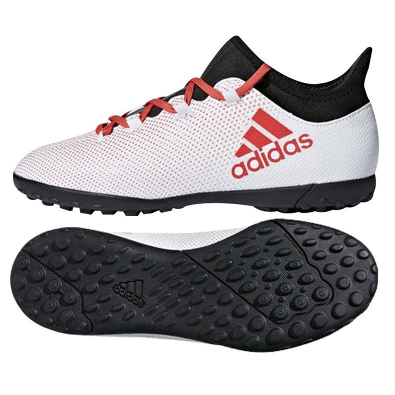 Botas de fútbol adidas X Tango 17.3 Tf Jr CP9025 blanco blanco