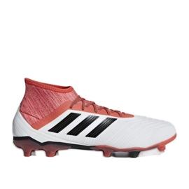 Botas de fútbol adidas Predator 18.2 Fg M CM7666 blanco blanco rojo