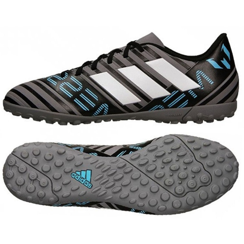 Botas de fútbol adidas Nemeziz Messi Tango Tf M CP9071 negro, azul, gris / plateado negro