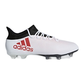 Zapatillas de fútbol adidas X 17.2 Fg M CP9187 blanco rojo multicolor