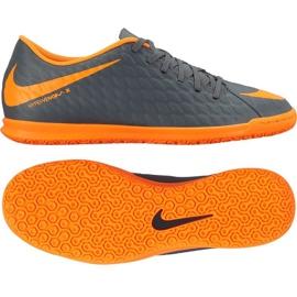 Zapatos de interior Nike Hypervenom PhantomX Iii Club Ic M AH7280-081 naranja, gris / plateado gris