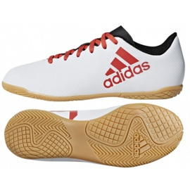 Zapatos de interior adidas X Tango 17.4 IN Jr CP9053 blanco