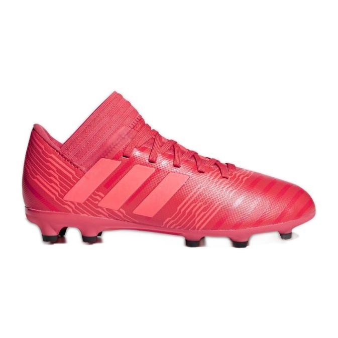 Botas de fútbol adidas Nemeziz 17.3 Fg Jr CP9166 rojo rojo