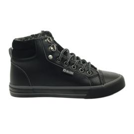 Zapatillas deportivas con piel Big Star. negro