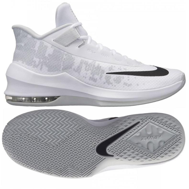 Zapatillas de baloncesto Nike Air Max Infuriate 2 Mid M AA7066-100 blanco blanco