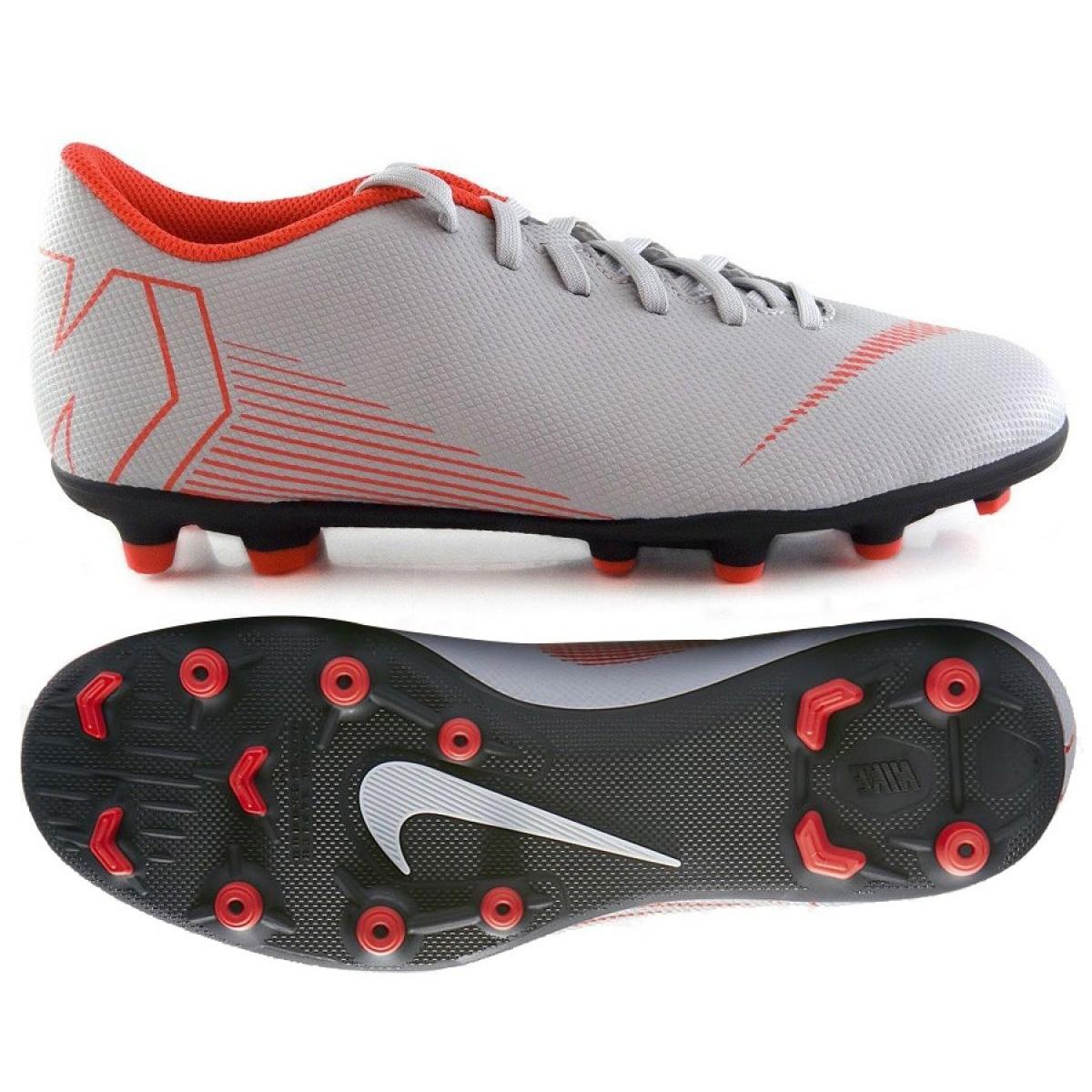 Zapatos de fútbol 2018 Nike Mercurial Vapor 12 FG Verde Plata