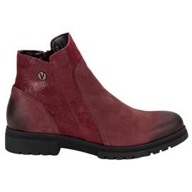 Botas de cuero comodo VINCEZA rojo