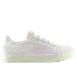 Zapatillas opalescentes blancas BL142 blancas