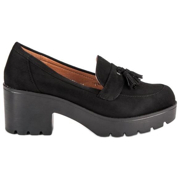 Ch. Creation Zapatos mocasines con estilo negro