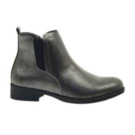 Botas de plata antiguas Sergio Leone 553 gris