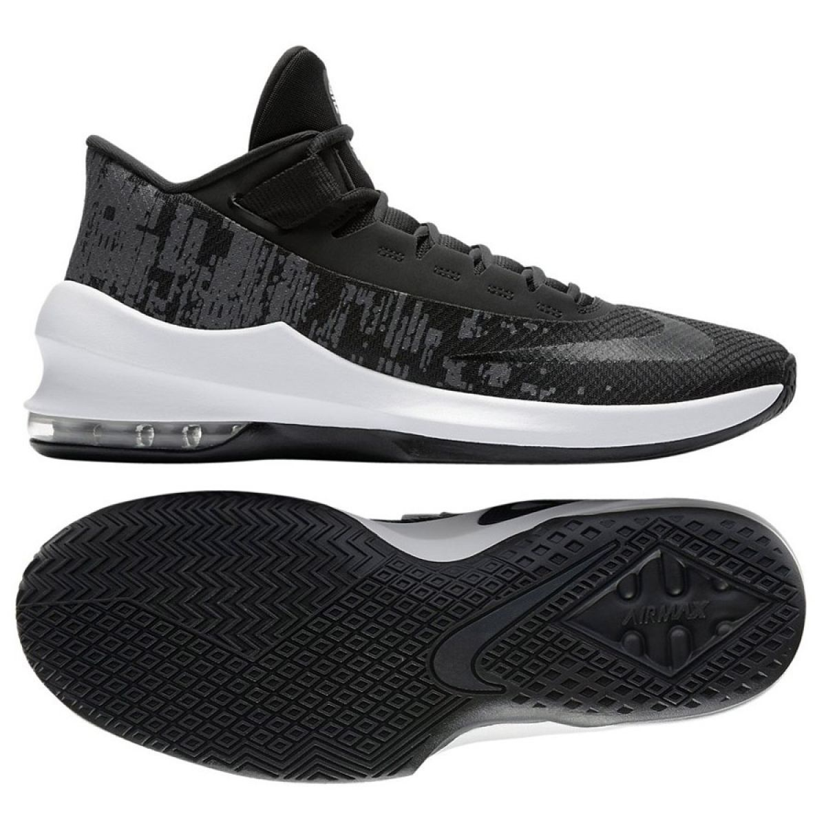 Zapatillas de baloncesto Nike Air Max Infuriate 2 Mid M AA7066 001 negro negro