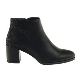 Zapatos de tacón negro Sergio Leone 542