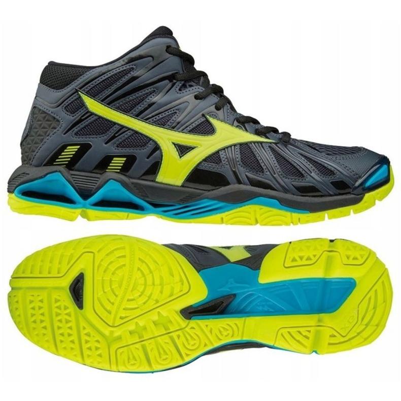 Zapatillas de voleibol Mizuno Wave Tornado X2 Mid M V1GA181747 gris negro