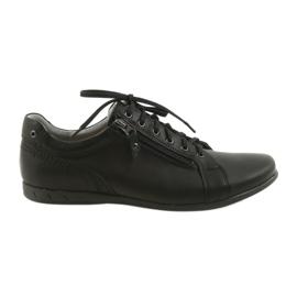 Negro Riko zapatos de hombre zapatos casuales 856