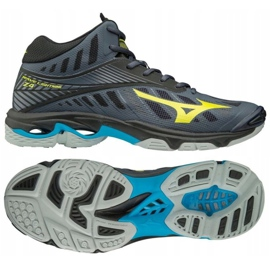 Zapatillas de voleibol Mizuno Wave Lighting Z4 Mid M V1GA180547 gris de grafito