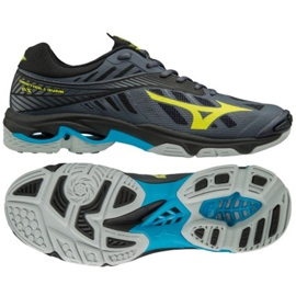 Zapatillas de voleibol Mizuno Wave Lighting Z4 M V1GA180047 gris de grafito