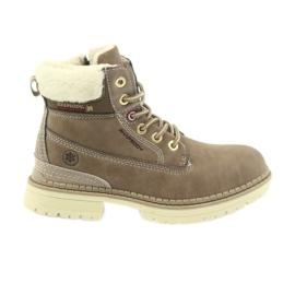 American Club marrón Botas americanas botines botas de invierno 708122