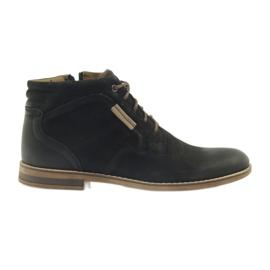 Negro Riko botas jockies zapatos de hombre en la cremallera