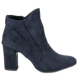Kylie Botines de gamuza elegantes azul