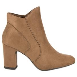 Kylie Botines de gamuza elegantes marrón