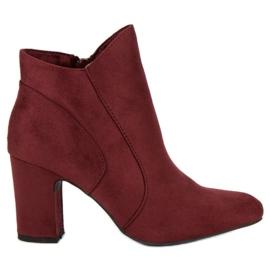 Kylie Botines de gamuza elegantes rojo
