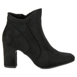 Kylie Botines de gamuza elegantes negro