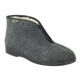 Gris Zapatillas de hombre Befado con zapatillas calientes 100M047